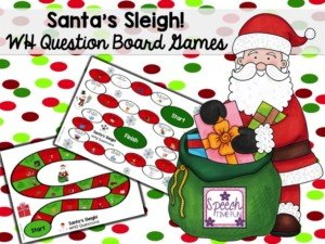 If you've been searching for resources about Christmas WH questions, look no further! I created this Santa's Sleigh WH Question Board Game resource so that you can save time and do fun but rigorous activities leading up to winter break!