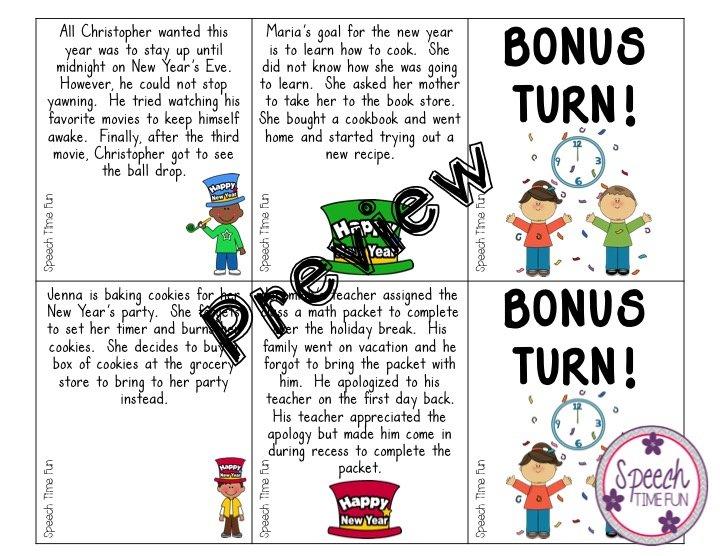 New Year\'s Summarizing Card Game FREEBIE!!!