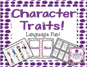 Character Traits Language Fun