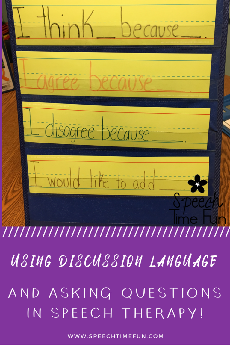 We're always asking lots of questions in our speech rooms, but we can go a step further by asking questions to elicit academic conversations. Check out all of my tips and tricks for using discussion language in the speech room in this blog post!