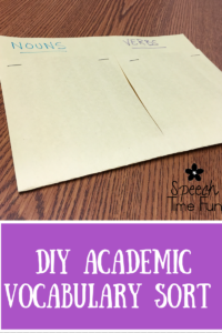 Academic vocabulary is so important, even in speech therapy! If you're not sure how to incorporate academic vocabulary into your therapy sessions, then check out this blog post, where I share how I use academic vocabulary.