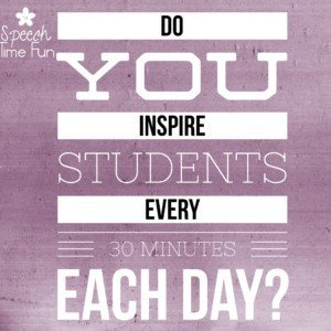 It's sort of crazy to think about, but as SLPs, it's our job to inspire students every 30 minutes. We have a new group of kids coming to us every 30 minutes, and in between groups, we need to find motivation to inspire students in the next one. I share how I stay motivated in this post!