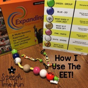What is the EET? It's an incredible tool for SLPs to use in their speech and language therapy rooms! EET stands for Expanding Expression Tool. Although this kit is expensive, it has SO many uses and is an excellent investment! Click through to learn how I use the EET.