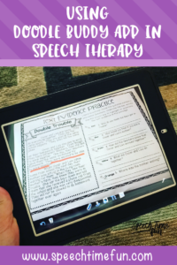Fun Ways to Use A Free App…Doodle Buddy in Speech Therapy!