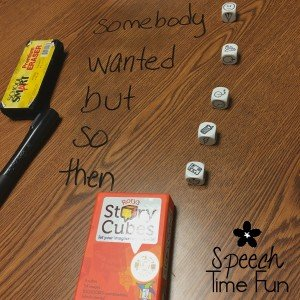 Rory's Story Cubes are an amazing tool for SLPs to use in their therapy rooms! They help you and your students target a variety of speech and language targets, including articulation, fluency, summarizing, and more! Click through to learn how I use Rory's Story Cubes in my speech room!