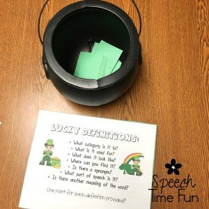 St. Patrick's Day offers a ton of fun DIY speech ideas! I'm sharing all of my favorite DIY speech ideas for this lucky holiday in this blog post. Your therapy students will have a blast with all of them, so click through to read more!