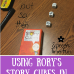 Building narrative skills with Rory's Story Cubes!