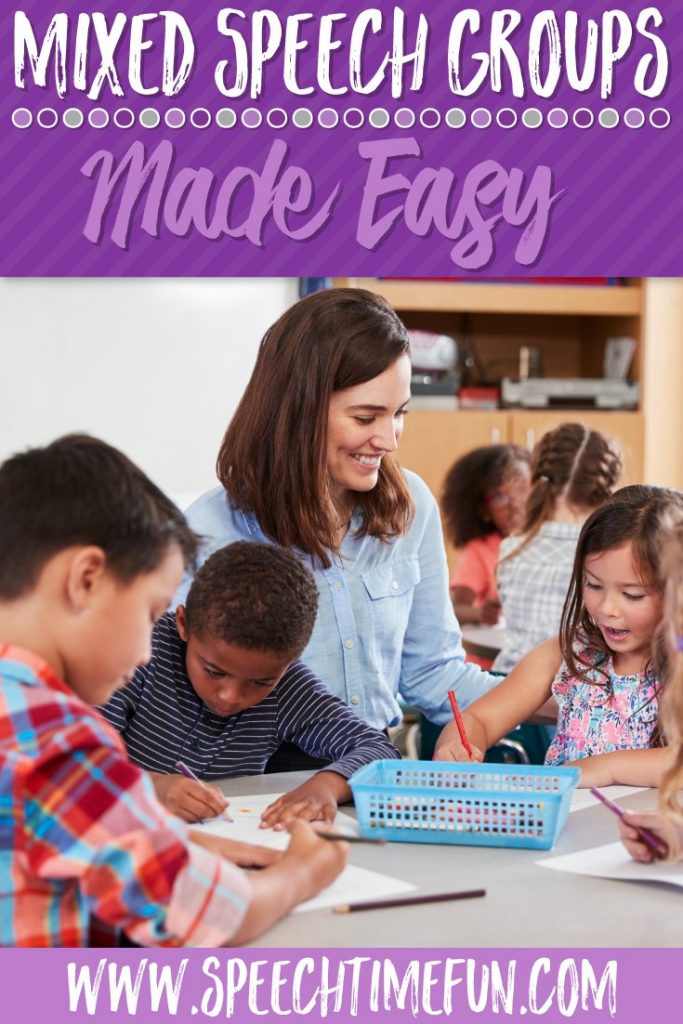 Mixed Speech and Language Groups made Easy for SLPs