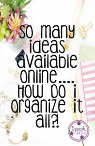 My Idea Diary Blog Post - Organizing Ideas Available Online