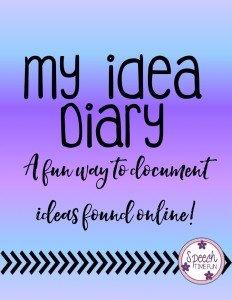My idea Diary - Speech Time Fun