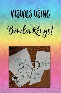 Visuals using Binder Rings