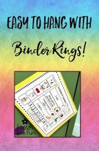 Binder Clips to hang Visuals