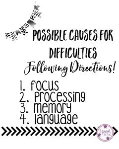 RTI Strategies for Following Directions - Possible Causes