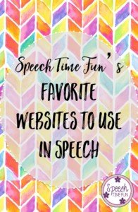 There are so many great websites out there, but which ones are best for speech therapy? I've created a list of my favorite websites to use in speech. Read this post to learn what they are and to watch some videos with more online resources for speech and language pathologists!