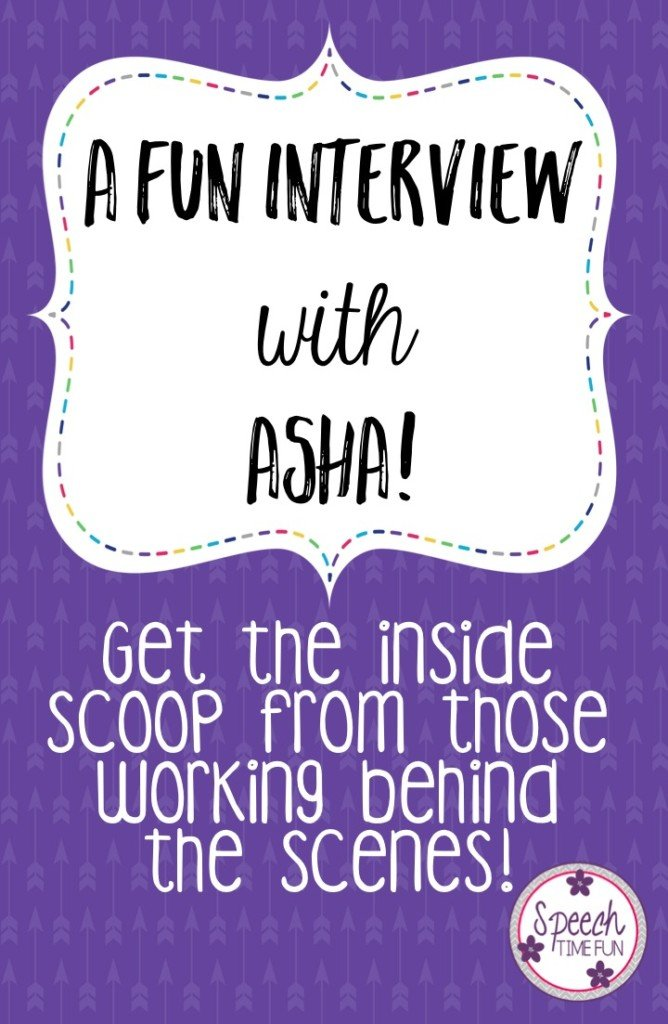 Want to learn more about ASHA? Or are you maybe looking for some inspiration in your speech therapy room? I interviewed a couple of representatives from ASHA, which you can read right here in this post! Learn more about why they love SLPs and what we can gain from ASHA to be the best speech therapists possible! Click through to read the full interview.