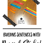 Building Sentences with Popsicle Sticks!!