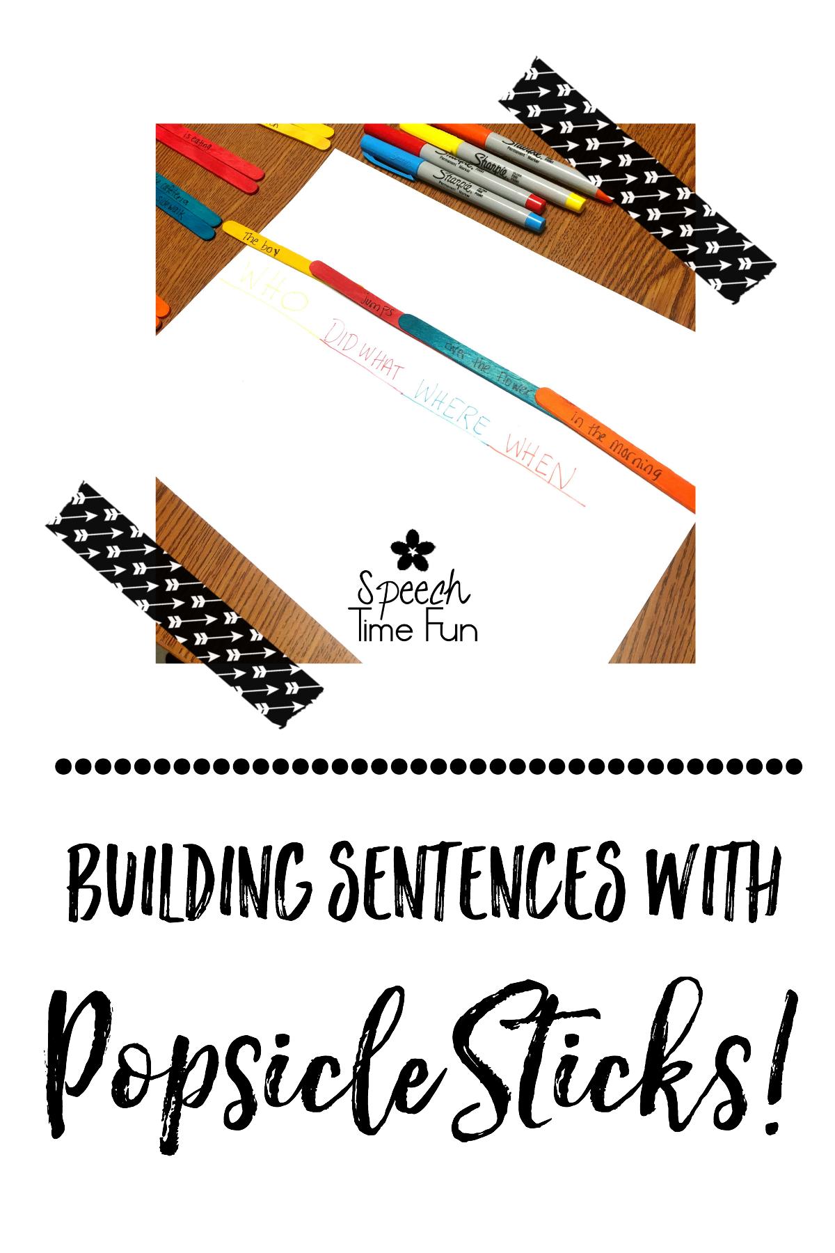 Building Sentences with Popsicle Sticks!!