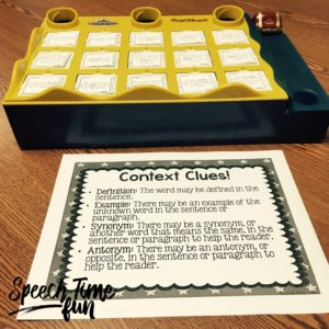 Cariboo is a fun speech game, but it doesn't work well for older students...until I made a Cariboo comprehension pack! Check out how I adapted this game to be functional for older speech students.