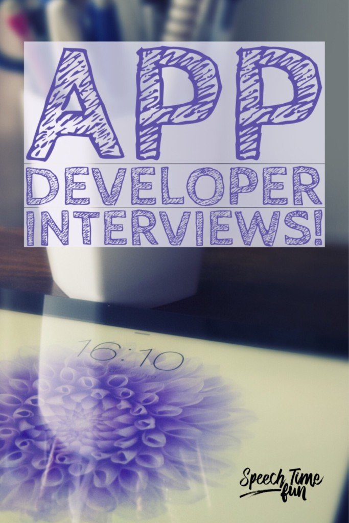 Curious to know what kind of speech and language apps developers recommend? This blog post shares brief interviews for busy SLPs to know what to choose! Click through to read the interviews and get suggestions for speech therapy apps.