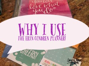 Why I Use The Erin Condren Planner as an SLP
