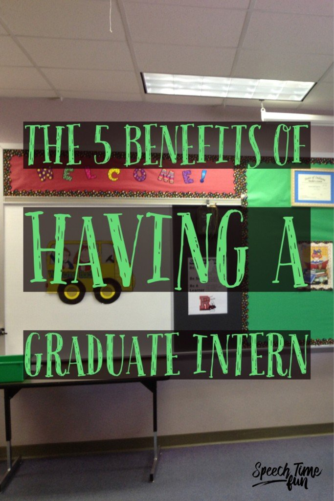 Are you considering having a graduate speech intern in your speech therapy room? I've had three, so I'm sharing five benefits to having one in this post.
