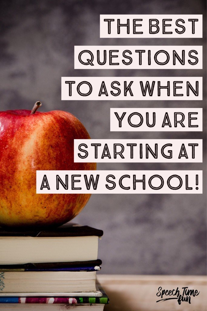 Starting at a new school is both exhilarating and intimidating. I've compiled a list of questions you should always ask when starting a new SLP position! Click through to read all of the suggested questions for SLPs.