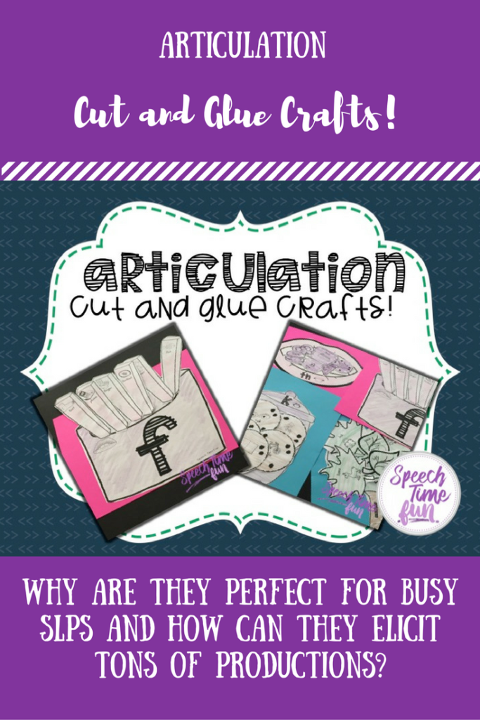 Why are articulation crafts perfect for busy SLPs that don't want to prep but elicit tons of productions!