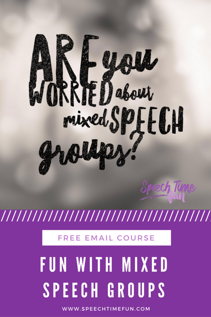 Mixed speech groups don't have to be a challenge or something you dread! I'm sharing how to make mixed speech groups fun in this blog post.