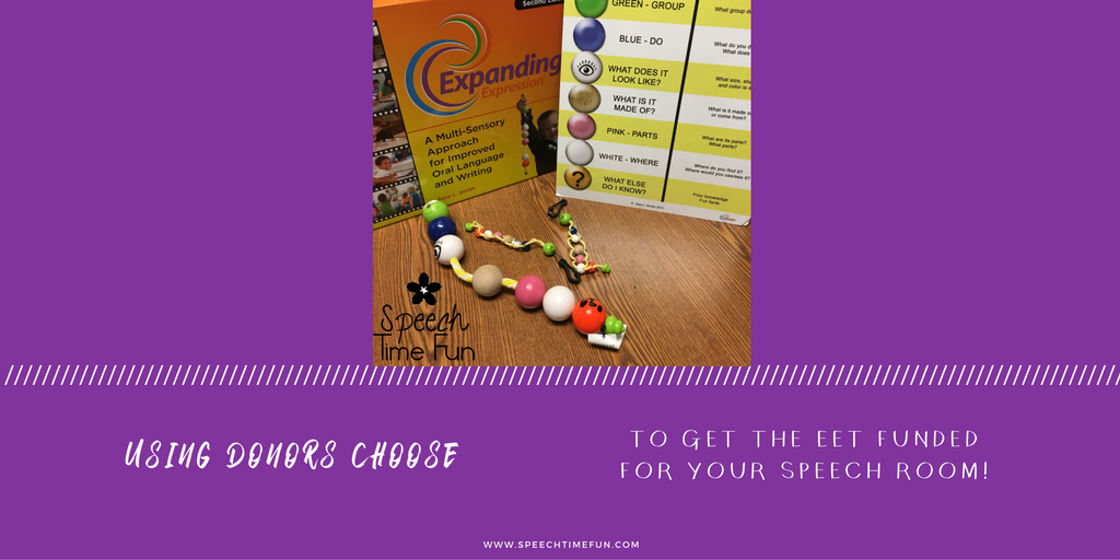 Using Donors Choose To Get The EET Funded For Your Speech Room!