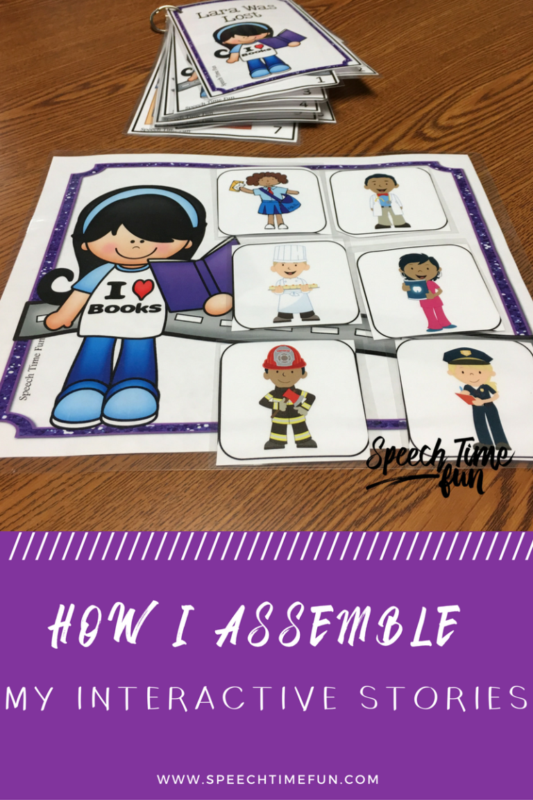 Do you have any of my interactive stories resources? I'm sharing tutorials for how to use them and get the most of them in speech therapy in this blog post!