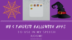My Favorite Halloween iPad Apps To Use In My Speech Room