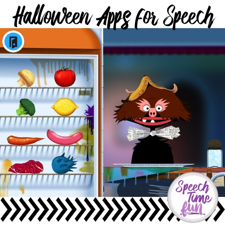 Have an iPad to use for speech therapy? Need some ideas for Halloween activities? I'm sharing my 5 favorite Halloween iPad apps in this blog post!