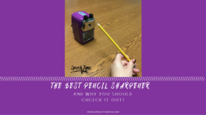 Pencil sharpeners can sometimes be a nuisance, but they're necessary. Read my review of the best pencil sharpener for SLPs - including WHY it's the best!