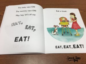 Product Review: Hey, Hey, Let's All Say!  Book for early intervention and early language