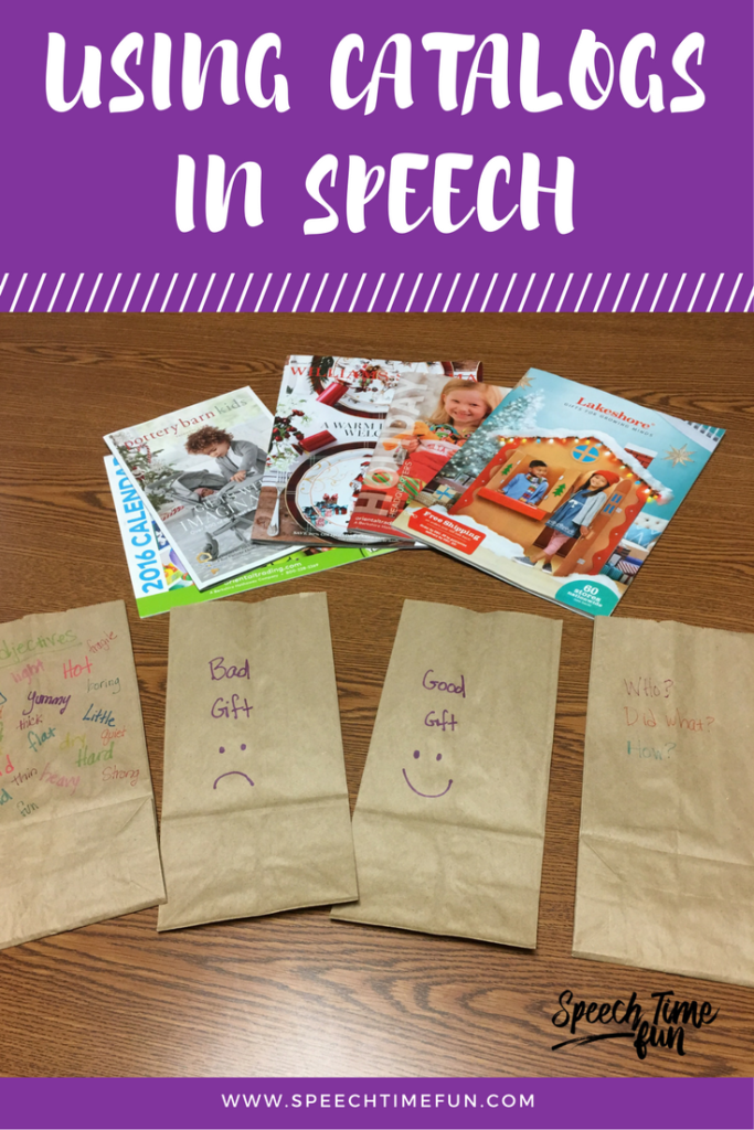 Using Holiday Catalogs In Speech To Target Multiple Speech and Language Goals