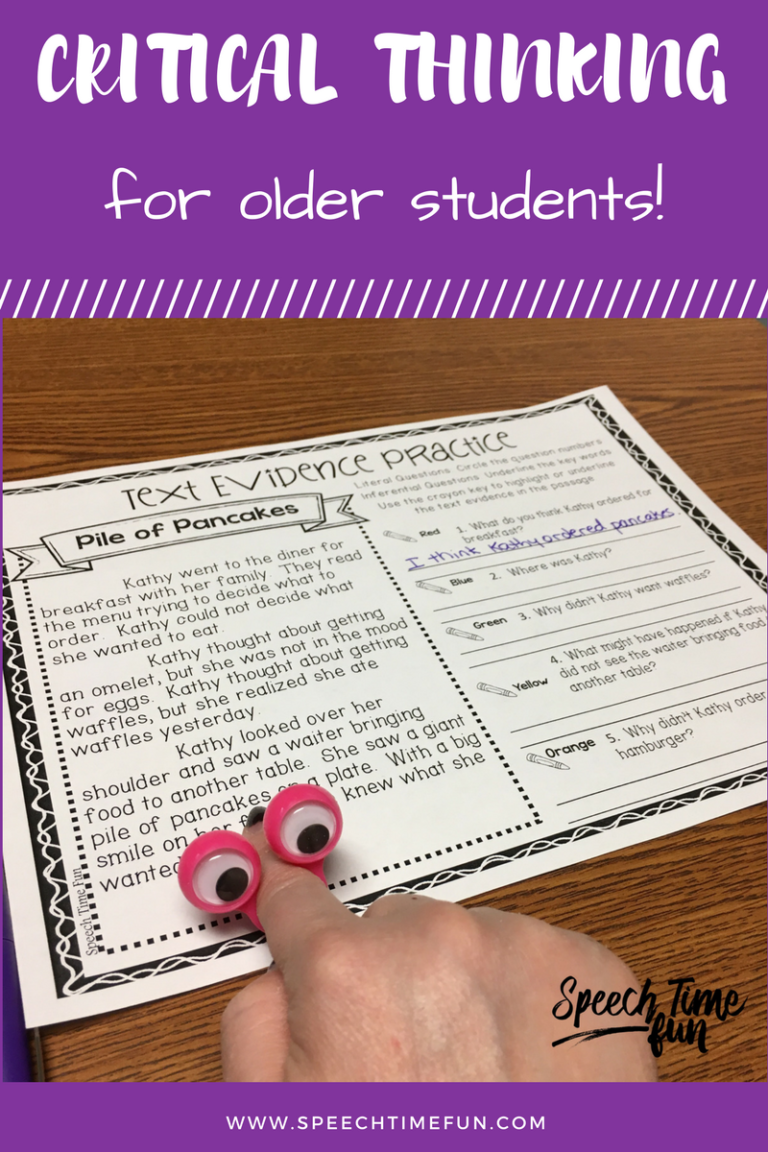 Working on critical thinking skills with older students can be a bit tough, but I'm sharing some of my tried-and-true ideas in this blog post. Read it here!