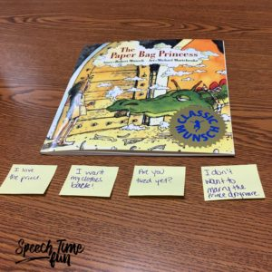 Are you familiar with the book The Paper Bag Princess? I'm sharing fun ways to use it in speech therapy in this blog post, so click through to read it!