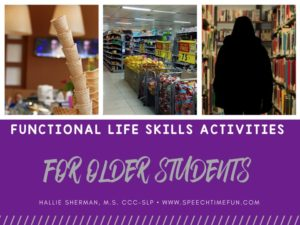 Functional Life Skills Activities for Older Students