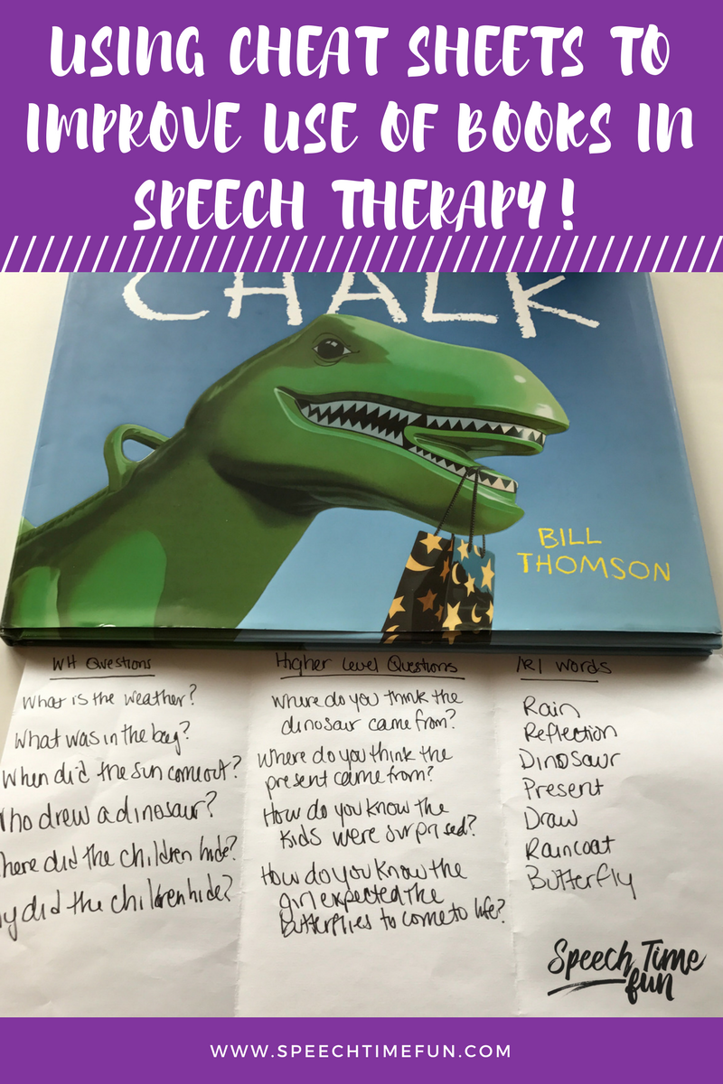 Using Cheat Sheets To Improve The Use of Books in Speech Therapy