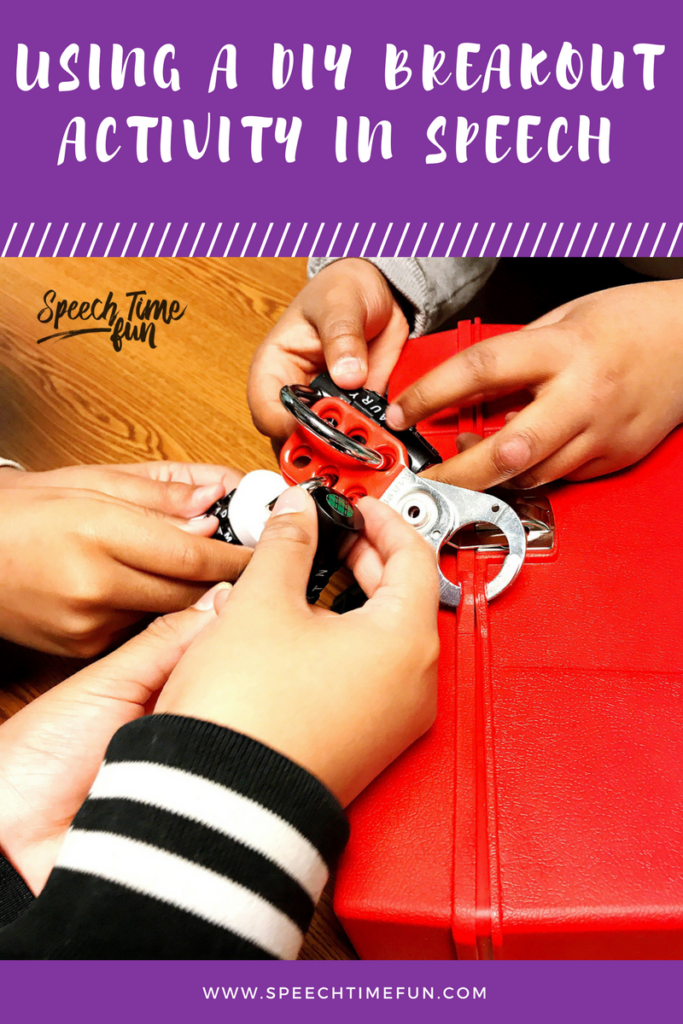 Using a DIY breakout activity in speech therapy