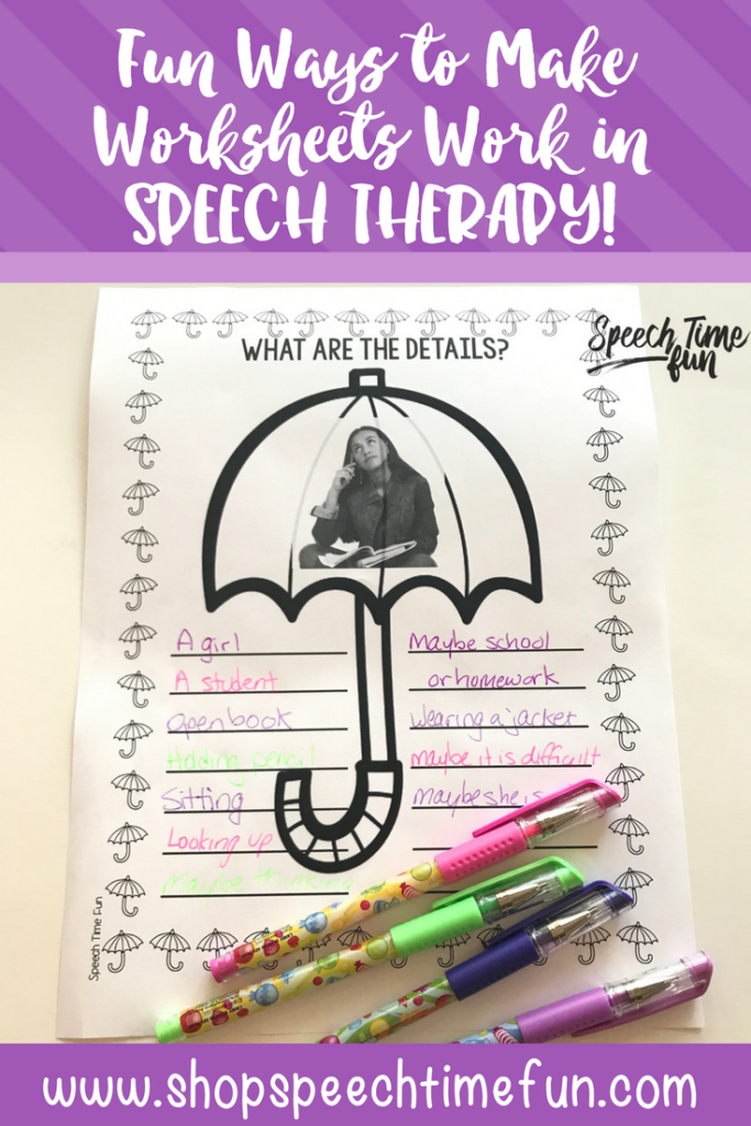 Using worksheets in speech therapy is a fun way to mix things up! Click through to read how to make worksheets work in speech therapy for you and your kids!