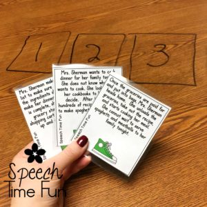 Sequencing is an important skill for speech students to master. This blog post shares a variety of fun sequencing activities to use in speech therapy! Click through to read the whole post!