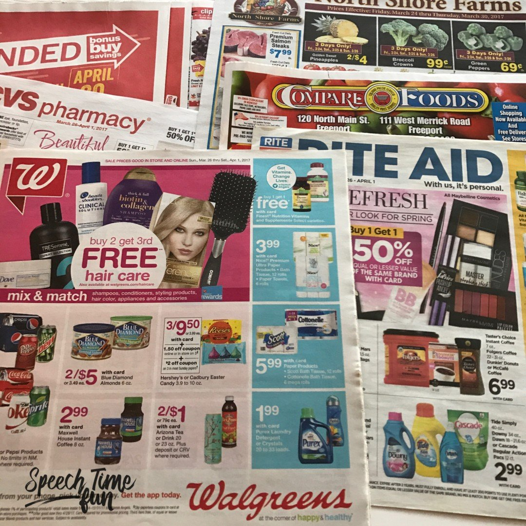 Using Supermarket Ads in Speech Therapy