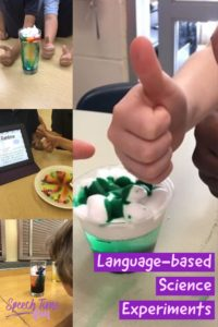 Ever thought of using science experiments in your speech therapy classes? Why not?! Click through to read how you can make them work for speech lessons!