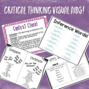 critical thinking visuals for speech therapy