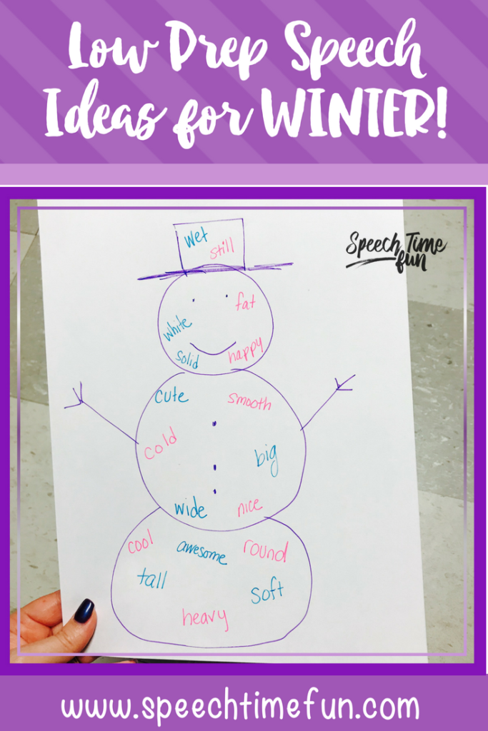 Motivation is often low during the winter, so keep these low prep speech therapy ideas in mind! You have lots of resources to use already in your room!