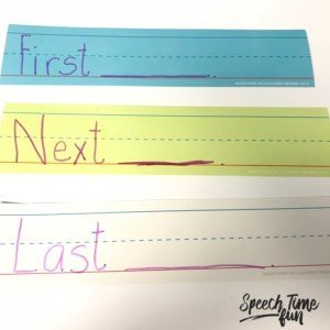 Sentence strips are a really handy tool in speech therapy. I'm sharing ideas for using sentence strips to help students respond to questions in this post. Click through to read more!