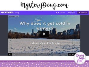 Mystery Doug is a free website I recently learned about that can be used in speech therapy sessions! Click through to learn how I used it in speech therapy.