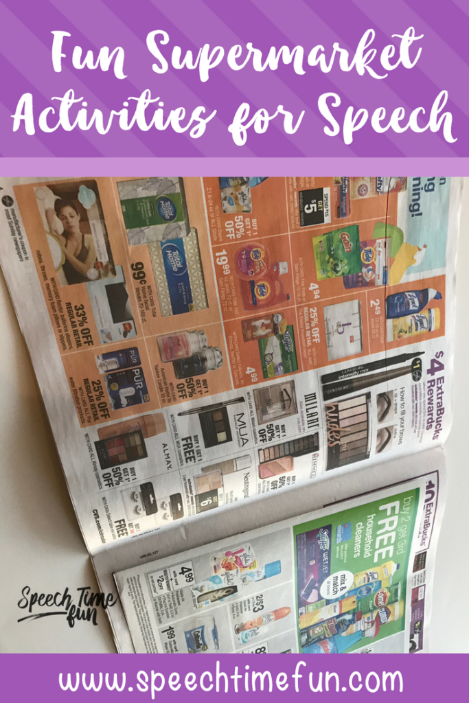 One way to make learning authentic is to use real themes in speech therapy. A supermarket theme is a fun and easy way to target a lot of speech skills! Click through to get speech and language therapy ideas for a supermarket theme in your speech room.