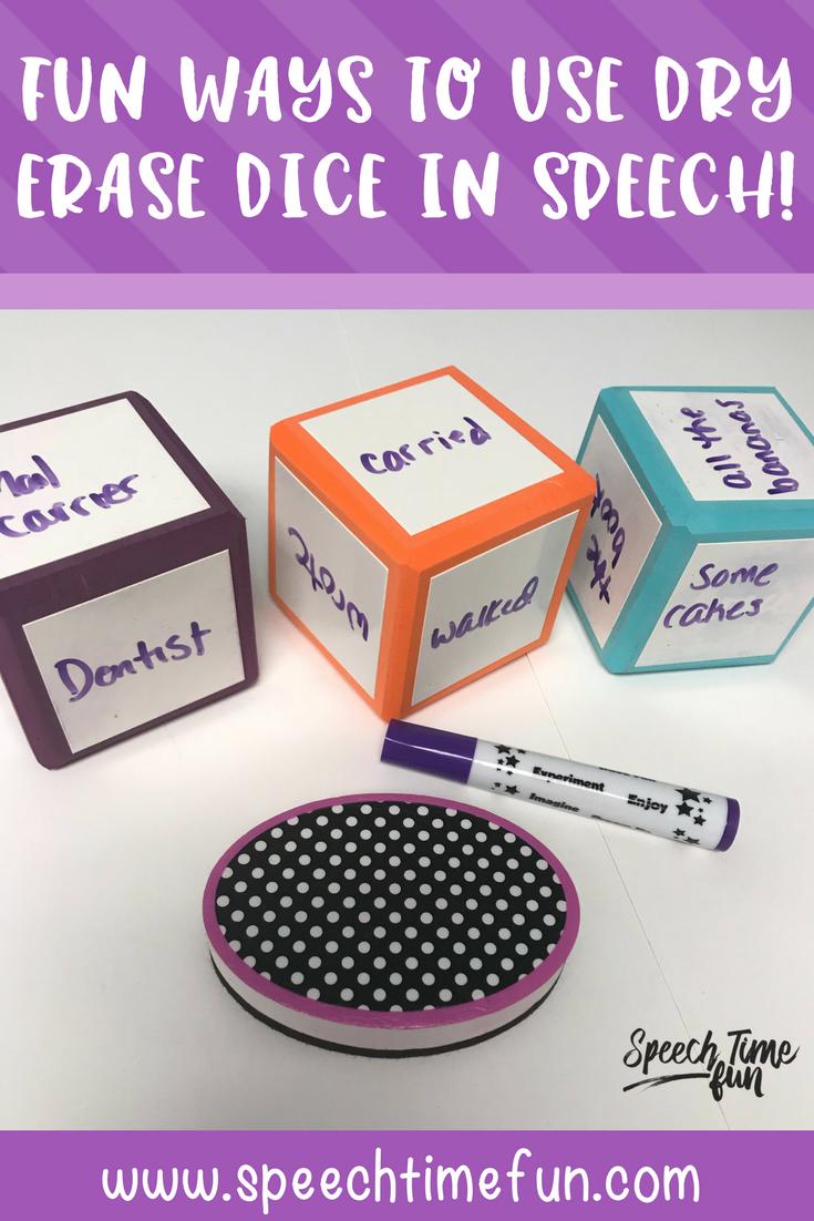 Fun Ways to Use Dry Erase Dice in Speech